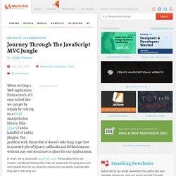 Journey Through The JavaScript MVC Jungle - Smashing Magazine