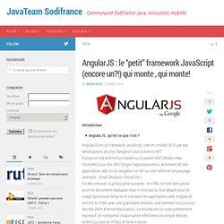"""AngularJS : le """"petit"""" framework JavaScript (encore un?!) qui monte , qui monte! - JavaTeam Sodifrance"""
