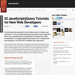 22 JavaScript/jQuery Tutorials for New Web Developers