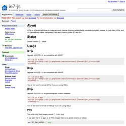 ie7-js - A JavaScript library to make MSIE behave like a standards-compliant browser.