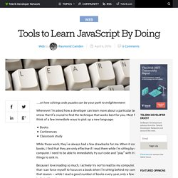 Tools to Learn JavaScript By Doing -Telerik Developer Network