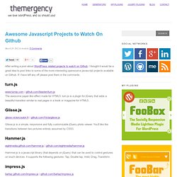 Awesome Javascript Projects to Watch On Github | Themergency
