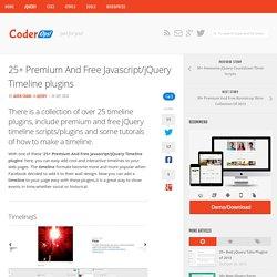25+ Premium And Free Javascript/jQuery Timeline plugins