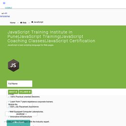 Javascript Courses in Pune - Codekul