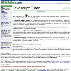 Javascript Tutor