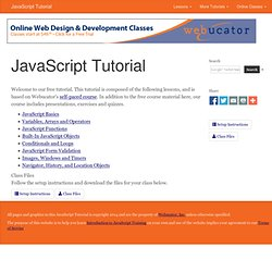 JavaScript Tutorial: Home
