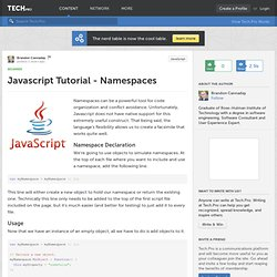 Javascript Tutorial - Namespaces