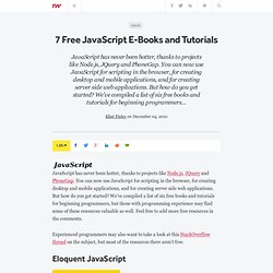 7 Free JavaScript E-Books and Tutorials