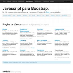 Javascript · Twitter Bootstrap