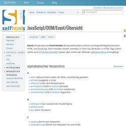 JavaScript/DOM/Event/Übersicht – SELFHTML-Wiki