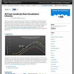 20 Fresh JavaScript Data Visualization Libraries