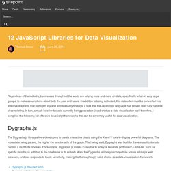 Twelve JavaScript Libraries for Data Visualization