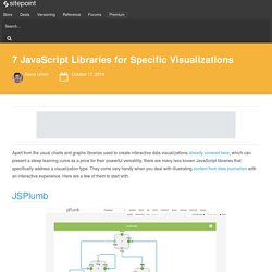 7 JavaScript Libraries for Specific Visualizations