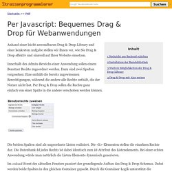 Per Javascript: Bequemes Drag & Drop für Webanwendungen