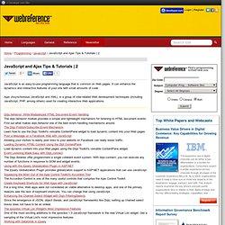 Web / Programming / JavaScript - WebReference.com