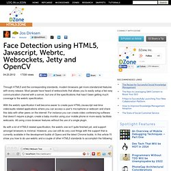 Face Detection using HTML5, Javascript, Webrtc, Websockets, Jetty and OpenCV