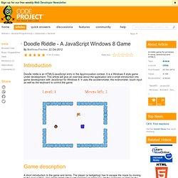 Doodle Riddle - A JavaScript Windows 8 Game
