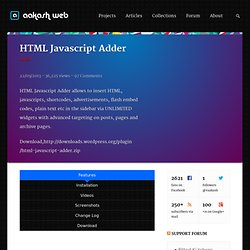 HTML Javascript Adder - Wordpress Plugin