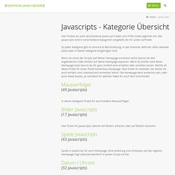 Javascripts - Kategorie Übersicht