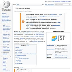 JavaServer Faces - Wikipedia