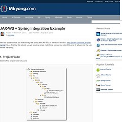 JAX-WS + Spring integration example