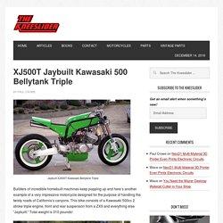 XJ500T Jaybuilt Kawasaki 500 Bellytank Triple
