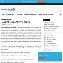 JAYPEE University Guna,Madhya Pradesh JUET MP