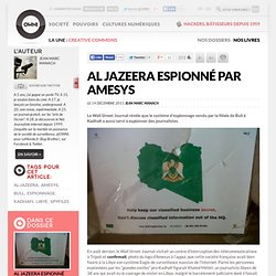Al Jazeera espionné par Amesys