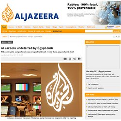 Al Jazeera undeterred by Egypt curb - Middle East