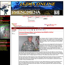 Jazma Online Forum - CSM JAMES NORTON HAS PROOF OF UFOS!