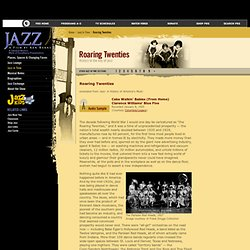 JAZZ A Film By Ken Burns: Jazz in Time - Roaring Twenties