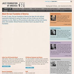 About the Jazz Foundation of America