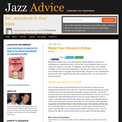 Jazz Ear Training - Master Your Intervals in 28 Days