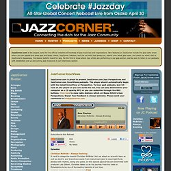 Jazz: JazzCorner.com - Jazz websites, jazz videos, jazz forums, jazz podcasts, jazz news, jazz jukebox