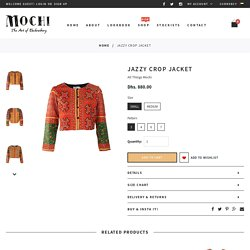 Jazzy Crop Jacket – All Things Mochi