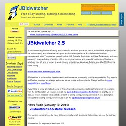 JBidwatcher: Free eBay auction sniping, bidding, and monitoring