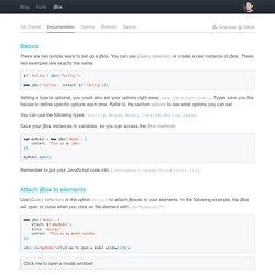 jBox Documentation