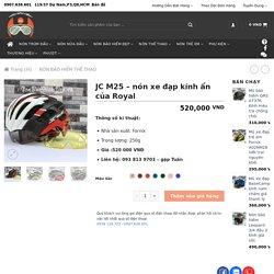 JC M25 - nón xe đạp kính ẩn của Royal