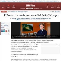 JCDecaux, numéro un mondial de l'affichage