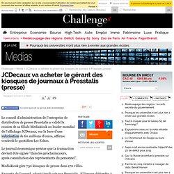 JCDecaux va acheter le gérant des kiosques de journaux à Presstalis (presse)