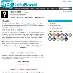 jcmayer777 on InfoBarrel