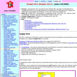 Delphi XE2 (=Delphi 2012)