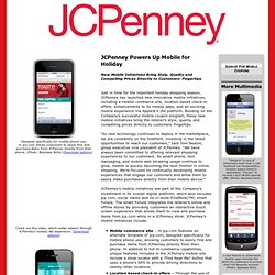 JCPenney Powers Up Mobile for Holiday