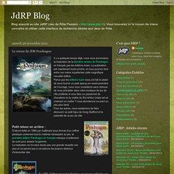 JdRP Blog: Le retour du JDR Pendragon