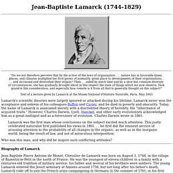 the conflict between the evolutionary theories of charles darwin and jean baptiste lamarck This was a landmark work in evolutionary biology darwin reflected on  on charles darwin's theories and ideas charles lyell was  jean-baptiste lamarck,.