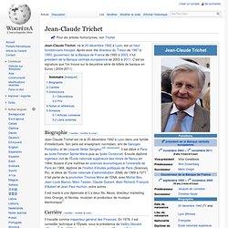 Jean-Claude Trichet, membre Club du Siècle