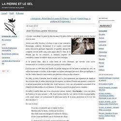 Jean Cocteau, poète méconnu