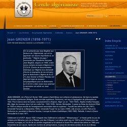 Jean GRENIER (1898-1971)
