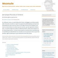 Jean-Jacques Rousseau et l'enfance