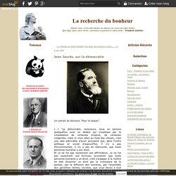 Jean Jaurès, sur la démocratie